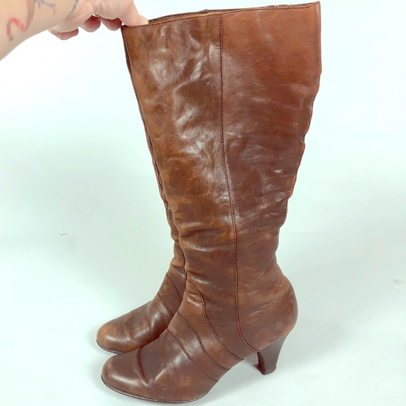 936be6381 Born Shoes | Tall Brown Heeled Boots | Poshmark